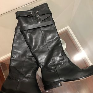Coach Black Leather Knee high Riding Boots 6